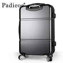 luggage 20 24 Inch TSA lock hook up PC+ABS aluminum frame universal wheel rolling Carry-Ons Travel Case suitcase Alloy Trolley