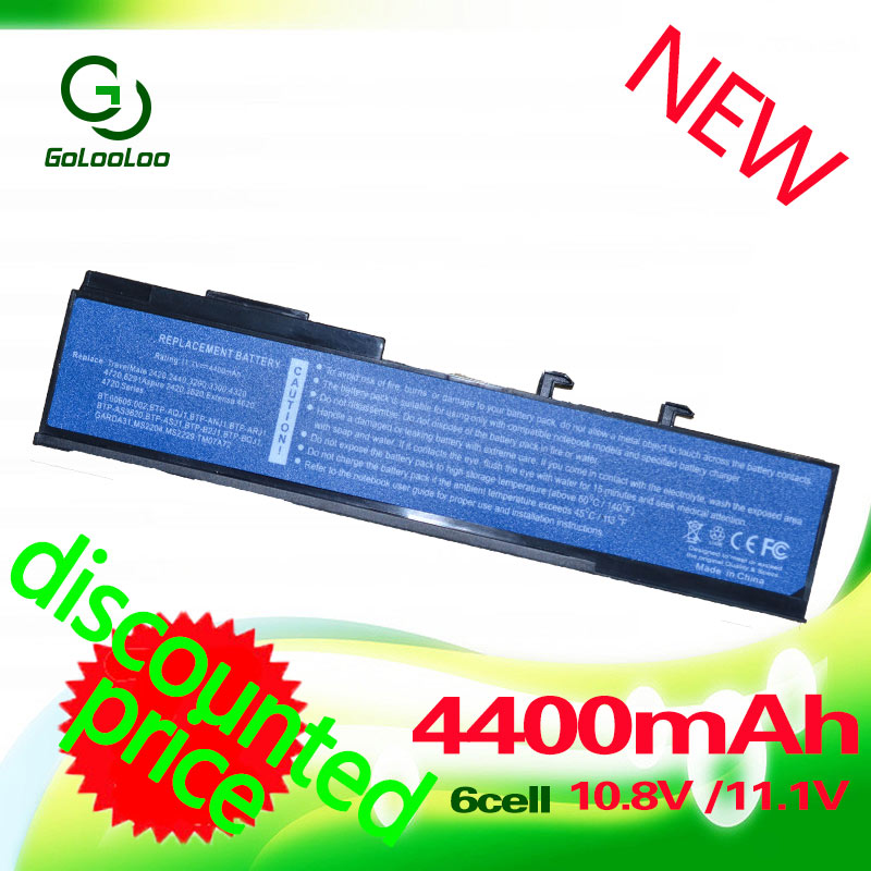 Golooloo Battery For Acer Aspire 2420 3620 5540 5550 2920Z 5590 3640 2920 3620A 3670 5560 Extensa 4130 4420 3100 4220 4620 4630