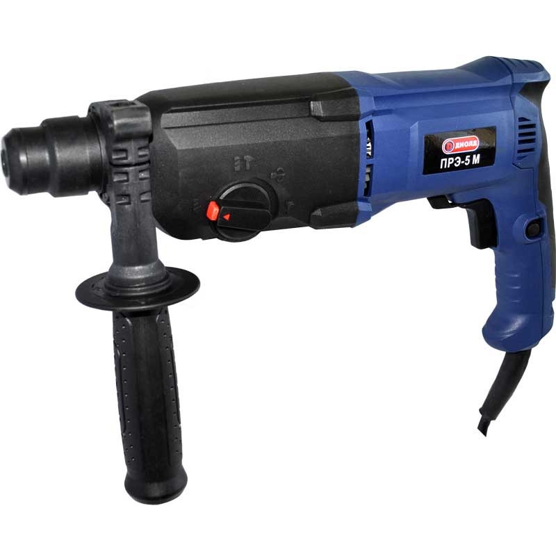 Electric hammer drill Diold ПРЭ-5 M (900 W Power, speed adjustment, reverse type drill chuck SDS +) electric hammer drill diold прэ 9 power 1500 w speed from 0 to 750 rpm