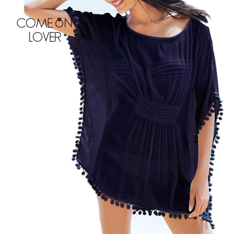 BI284 Comeonlover Ženy letní šaty Ženy Boho Sundress Pás těsné plážové šaty Ženy střapec Pohodlné plážové oblečení Plážové šaty