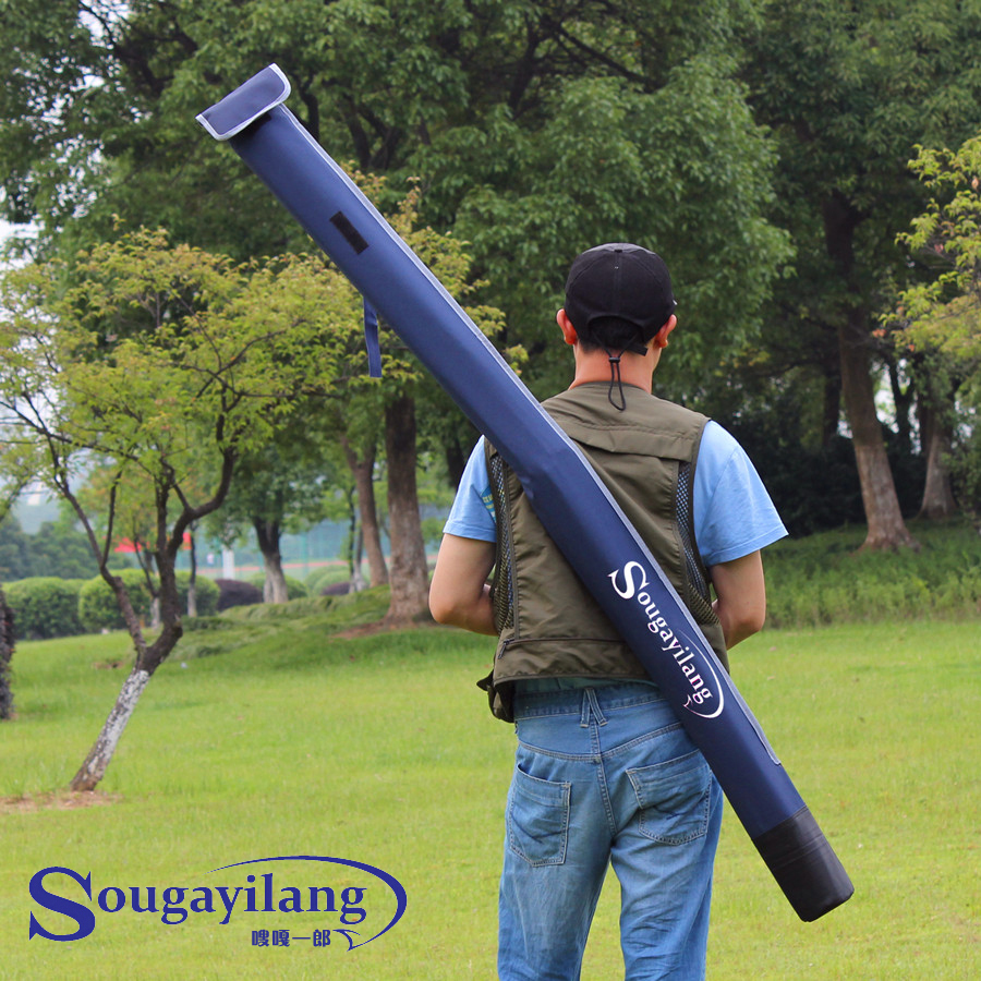 Sougayilang waterproof fishing rod bag carrier 160cm for Fishing rod case carrier storage bag