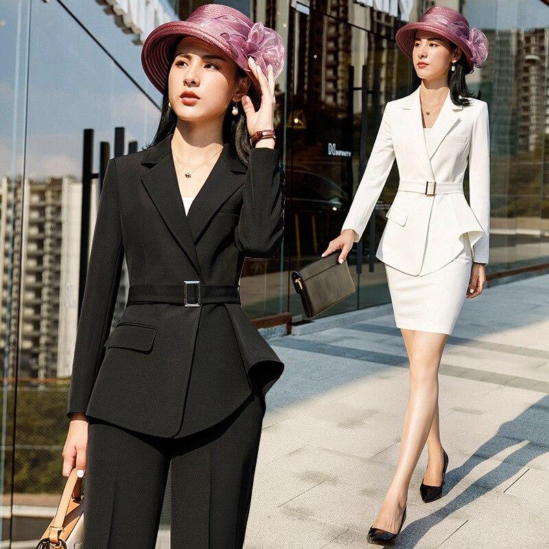 Femmes Nouvelles Taille Vêtements 6 2019 4 Ensembles 2 Femme Plus Deux Coréen Pièces La Costumes Couleur Survêtement De 3 Définit Tweed 1 Salopettes 5 Unie 5fdWqd