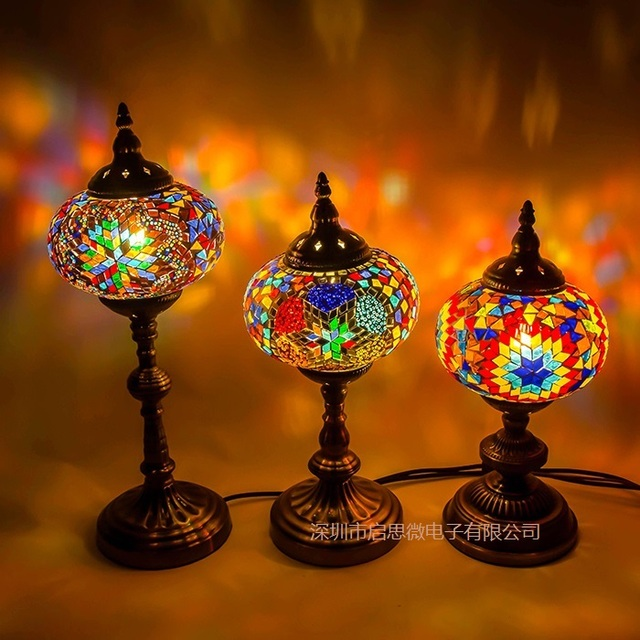 Turkish mosaic table lamp vintage art deco handcrafted lamparas de turkish mosaic table lamp vintage art deco handcrafted lamparas de mesa e14 glass romantic bed light mozeypictures Image collections