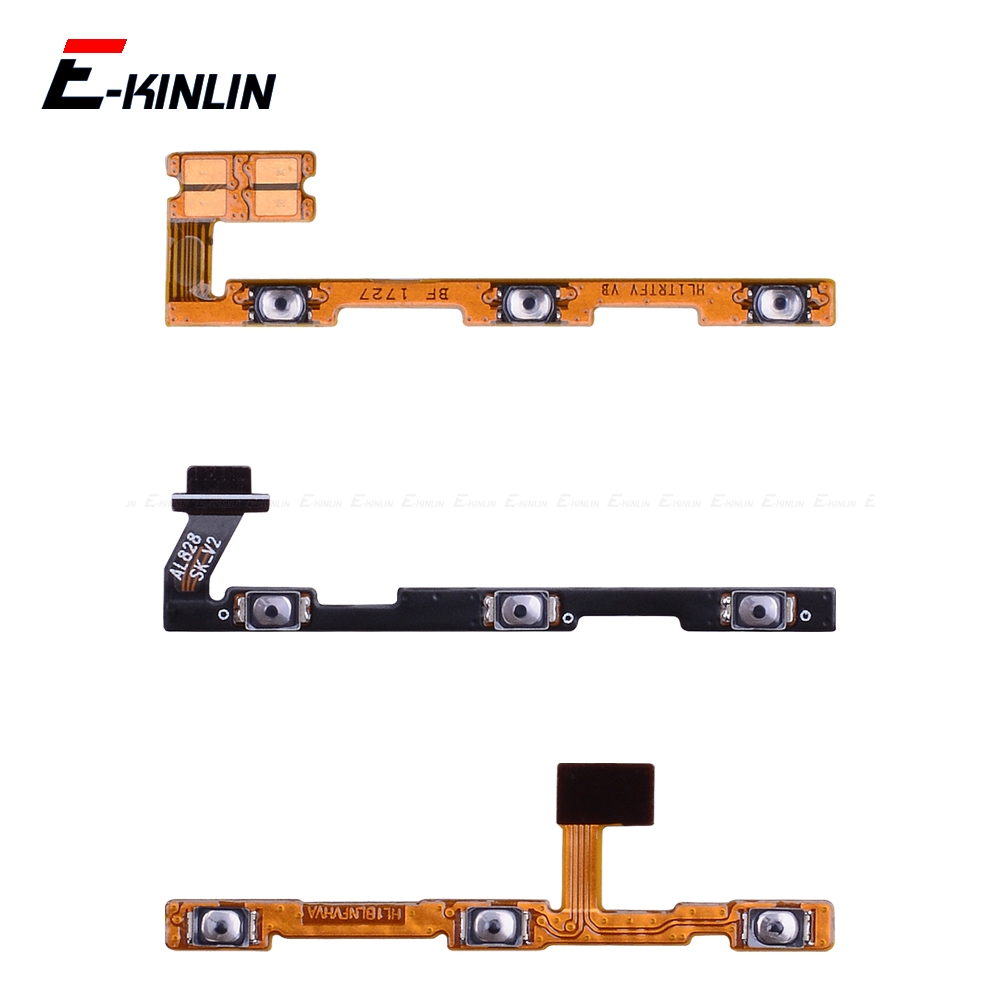 Switch Power ON OFF Key Mute Silent Volume Button Ribbon Flex Cable For HuaWei Y9 Y7 Y6 Pro Y5 Prime GR5 2017 2018 2019 Parts