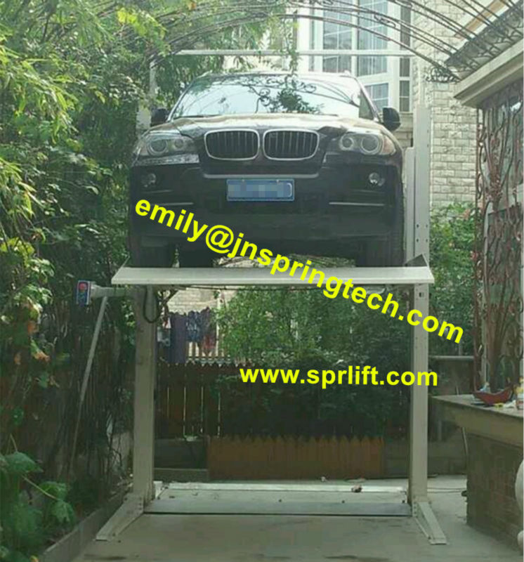 car lifting 2 two post residential auto lift auto car parking lift ...