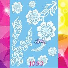 1PC Big Size 15x21CM Henna Temporary Tattoo Stickers For Wedding Women AJ30 Lace Flower Waterproof Tattoo White Color Arm Tattos