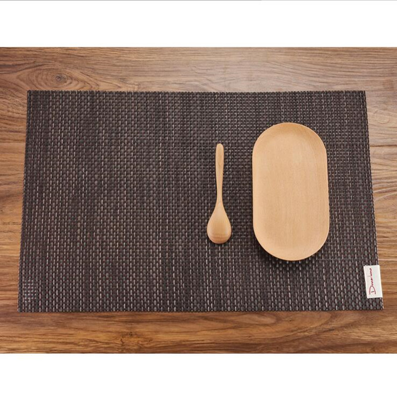 Awesome 4PCS Tesling Placemat PVC Table Cloth Non Slip Pad Kitchen Bar Decoration  Supplies Food Mat Coffee Dessert Shop Tableware Mats In Mats U0026 Pads From  Home ...
