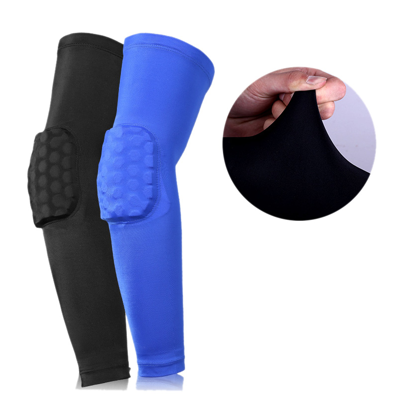 Férfi sport Kosárlabda lövés Könyök párna Protector Support Guard rugalmas tömörítő kar hüvely melegítők