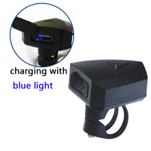 Ładowarka e-bike rower USB ładowarka wyjście 5V 2A do telefonów komórkowych wejście DC 36V 48V 60V 72V kierownica dla średnich i piasty części silnikowe tanie tanio CN (pochodzenie) Inne DC 36V-100V DC 5V 2A 58mm x 45mm x 45mm Front Handlebar 25 4mm 1 5m Black for negative electrode Red for positive electrode