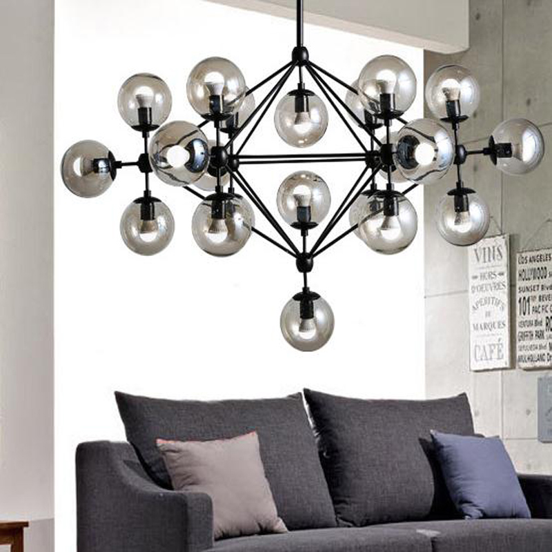 Modern vintage pendant lights iron glass ball Loft American Industrial  home decoration lamp E27 Edison bulb
