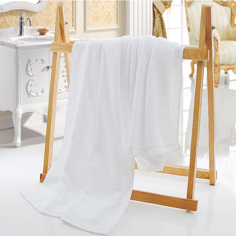 Στερεά Λευκή Μεγάλη Πετσέτα Μπάνιου - Αρχική υφάσματα - Φωτογραφία 2