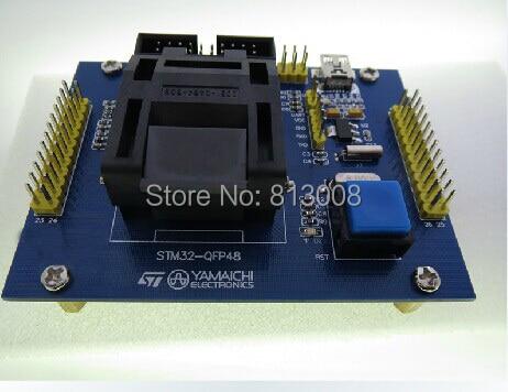 STM32 48Pin Burn in Lập Trình Socket thử nghiệm ổ cắm Kiểm Tra Ổ Cắm kiểm tra băng ghế dự bị phù hợp cho STM32F STM32L QFP48 Tàu Miễn Phí