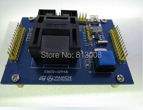 STM32 48Pin Burn in Socket Programmeren socket testen Test Socket testbank fit voor STM32F STM32L QFP48 Gratis Schip