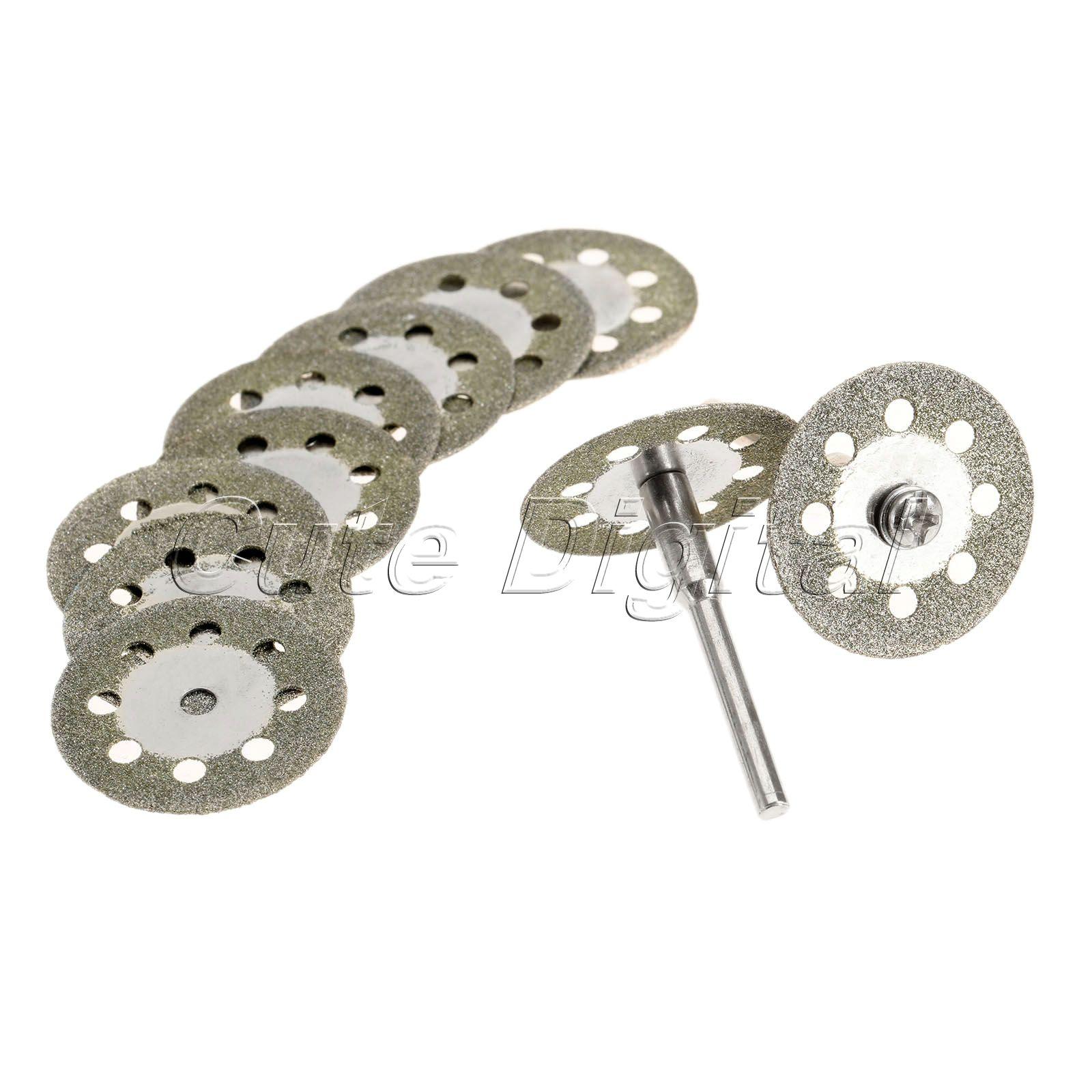 2 Tube 24 mm de résine coupe disque de meulage Wheels /& 3.175 mm mandrin outil rotatif Kit