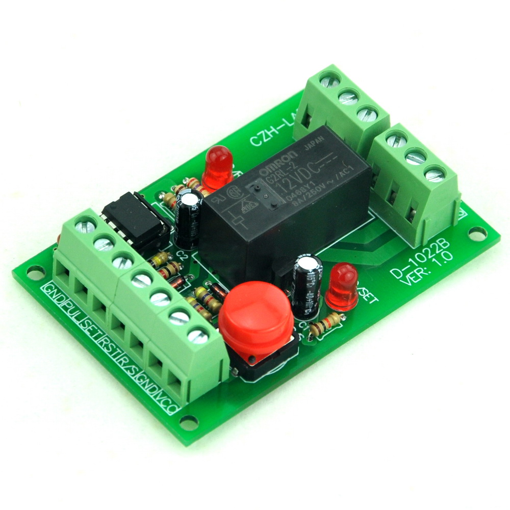 Panel Mount Momentary Switch Pulse Signal Control Latching Dpdt Relay 12vdc Module12v In Electronics Stocks From Electronic Components Supplies On