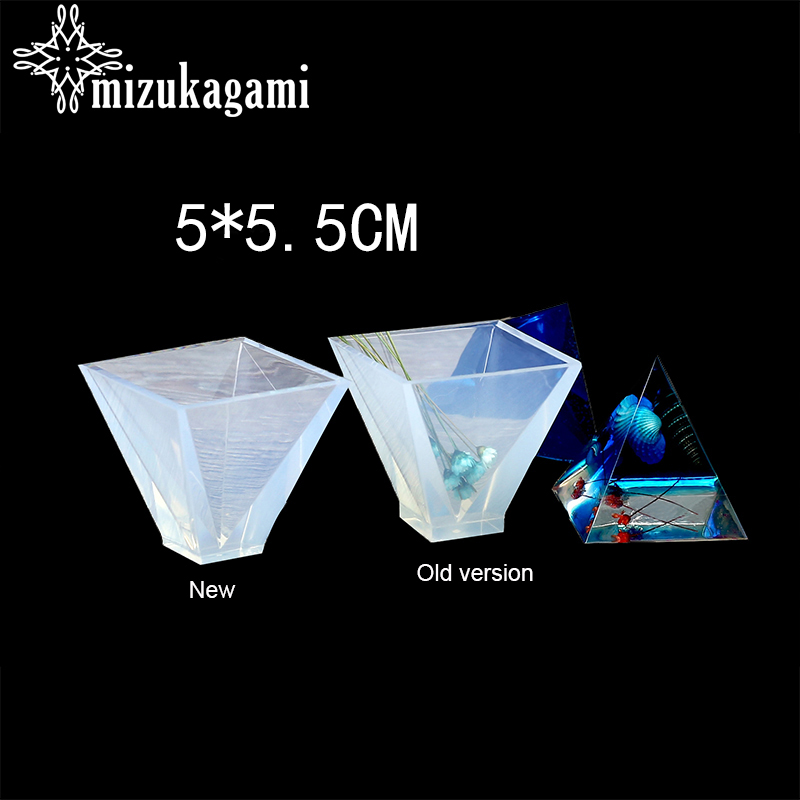 1PCS UV Resin Jewelry Liquid Silicone Mold Pyramid Shape Mold Resin Molds For DIY Jewelry Making Finding Molds Accessories