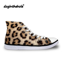 doginthehole Fashion Flat Shoes Women Leopard Printing Vulcanized Shoes for Teenagers Classic Canvas Shoes Feminine Sneakers