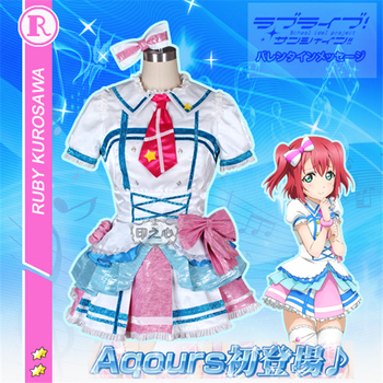 Anime Cosplay Costume Aqours Love Live Sunshine Single series Ruby Kurosawa Dresses Cute Full Sets B