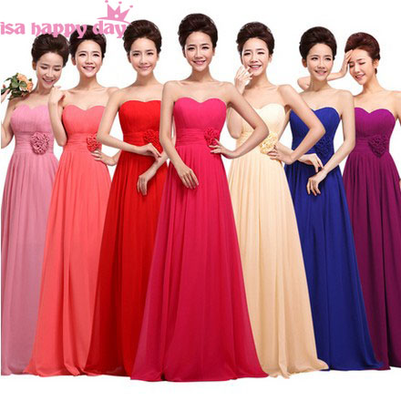 vestido de noiva illusion neckline royal blue floor length long chiffon   bridesmaid     dresses   under 100 new fashion 2019 B1182