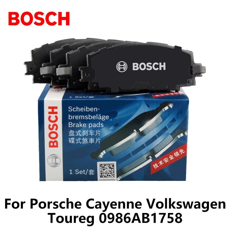 4шт/набор автомобиля Bosch передние тормозные колодки для Порше Кайен Фольксваген Toureg 0986AB1758