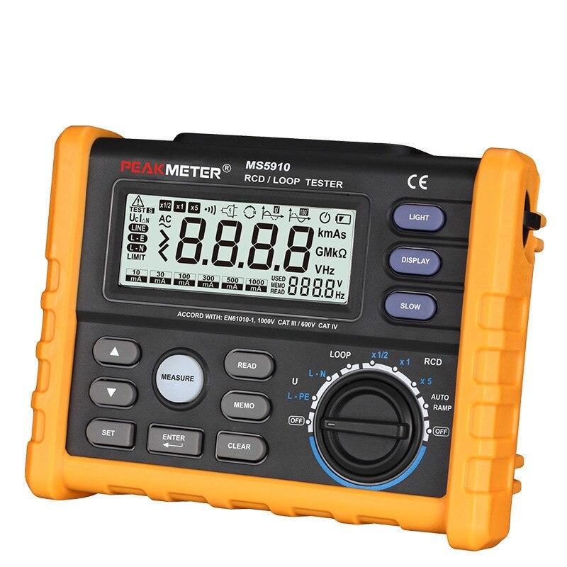 PROTMEX testeur de résistance en boucle RCD, multimètre d'interface USB