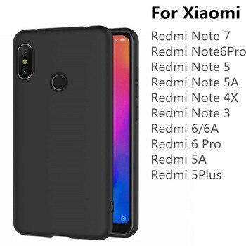 100pcs Black Matte TPU Phone Case For Xiaomi Redmi Note 7 6 Pro 5A 4X 6A 5 Plus Ultra Thin Soft Silicone Protective Cover