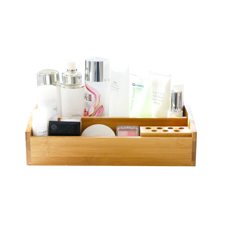 Wood Storage Box Office Desktop Stationery Cosmetic Storage Box Household Jewelry Make up Storage Box