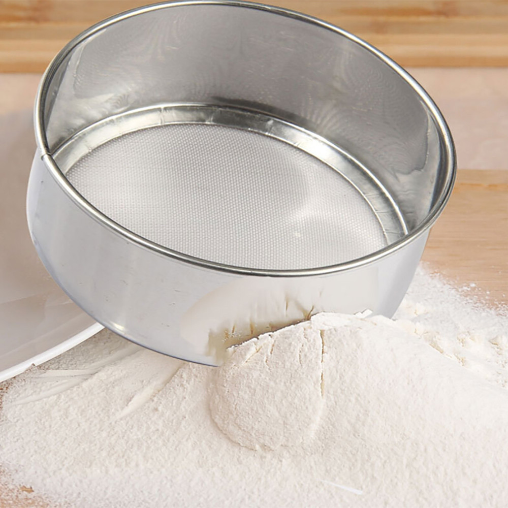 saingace flour sieve stainless steel sieve cup screen mesh
