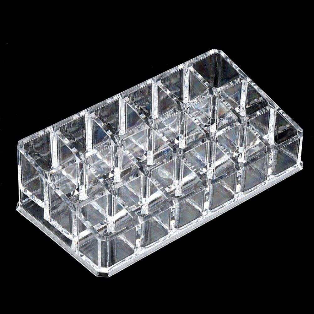 Acrylic Makeup Organizer Storage-Box Jewelry Cabinets Drawer Transparent 18-Grid Mini
