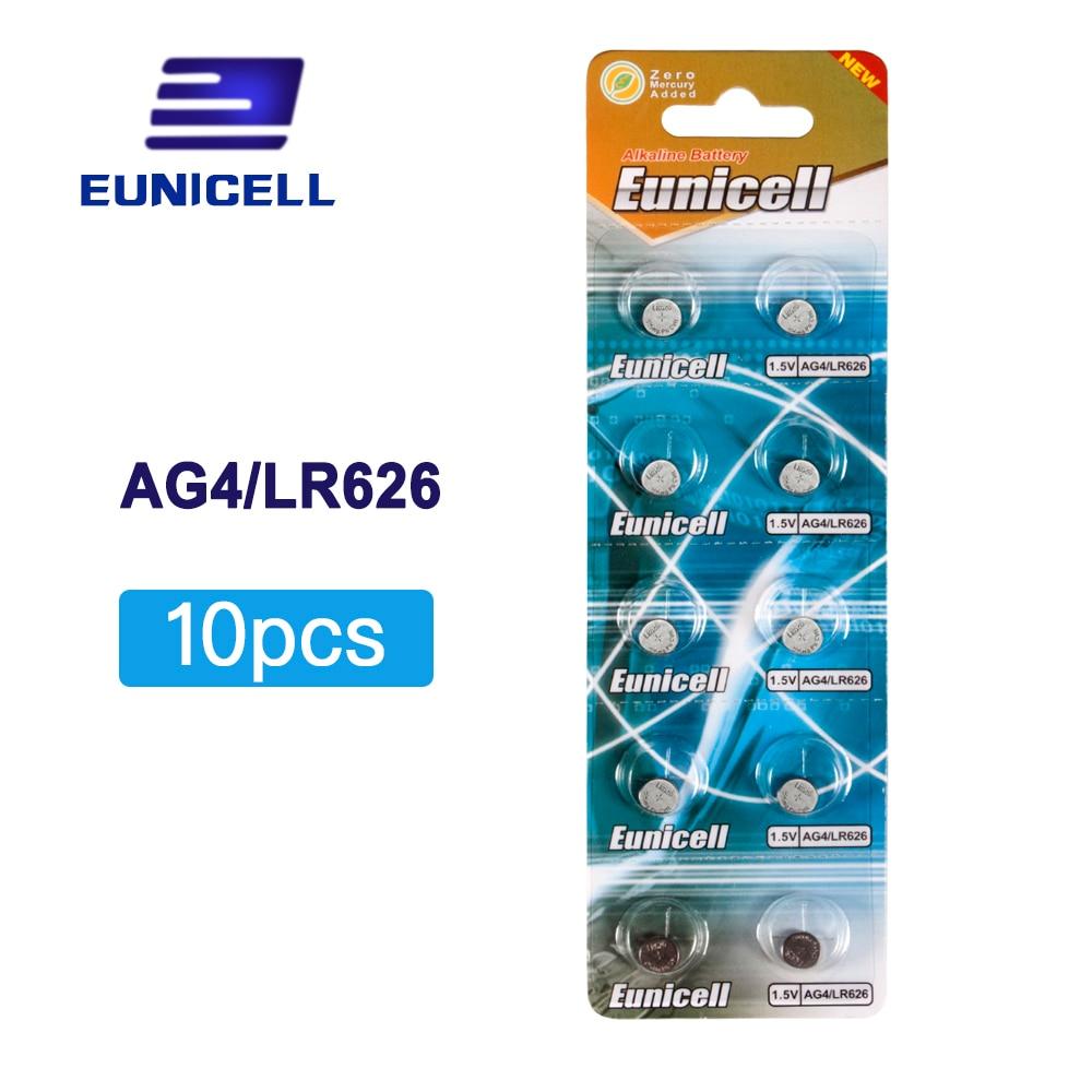 10pcs/Lot AG4 377A 377 LR626 SR626SW SR66 LR66 Button Cell Watch Coin Battery Batteries
