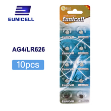 10pcs AG4 377A 377 LR626 SR626SW SR66 LR66 Button Cell Watch Coin Battery batteries