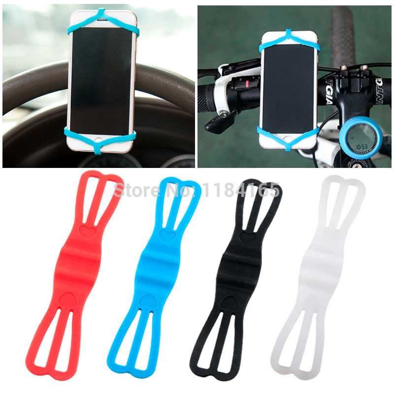 Multi-function Car Rearview Navigation Straps Straps Steering Wheel Bike Phone Holder For IPhone Samsung 3.5-6 Inch Mobile Phone