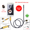 Gold 2IN1 Android Endoscope Waterproof Inspection 6LED 7MM Lens HD USB Borescope Micro USB Tube Pipe