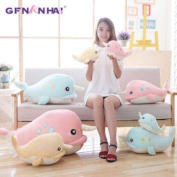 1pc 50cm Cute Unicorn Fish Plush toy kawaii Narwhal Dolls Stuffed Soft Pillow Toy for Children Kids Birthday Gift stuffed toy