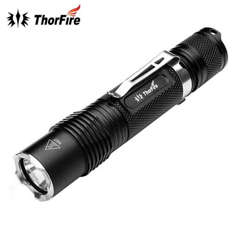 714049 s 15 5 Original ThorFire VG15S 1070 Lumens 5 modes LED Flashlight Aluminum 18650 Light Torch VG15 Upgraded Version for Camping Hiking