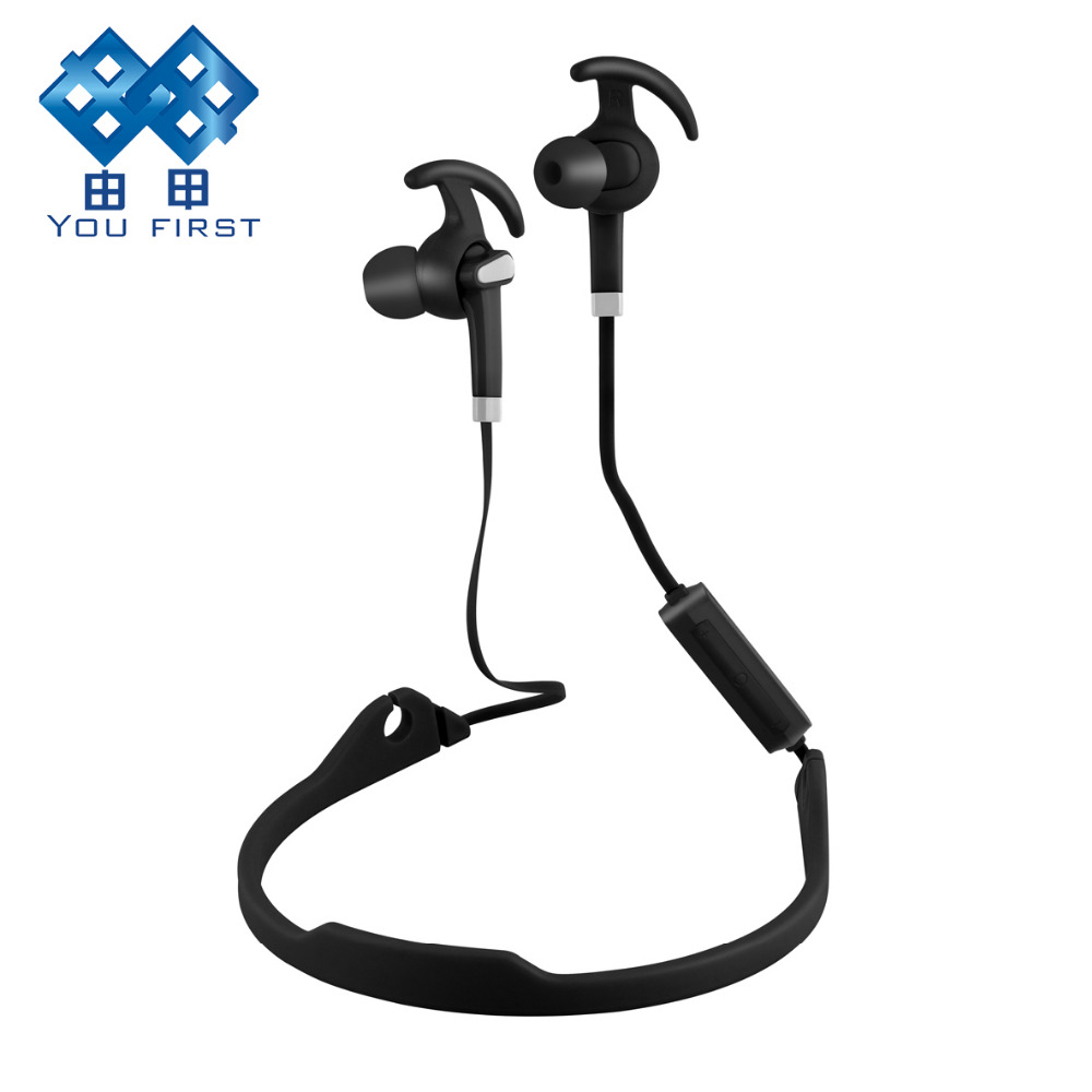 Sports Bluetooth Earphone Wireless Neckband Stereo Headphone Running Handsfree Noise Canceling With Microphone For Mobile Phone kz zs5 bluetooth headphone wireless sport noise canceling earphone amplifer with mic heavy bass high quality for boy for samsung