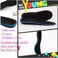 PVC arch support orhtopetic flat feet EVA shoes insole for children