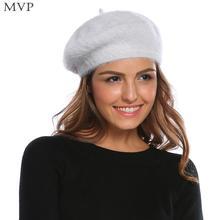 Sombrero nuevo invierno tejer boina casquillo sólido mujeres(China) 2141145211f