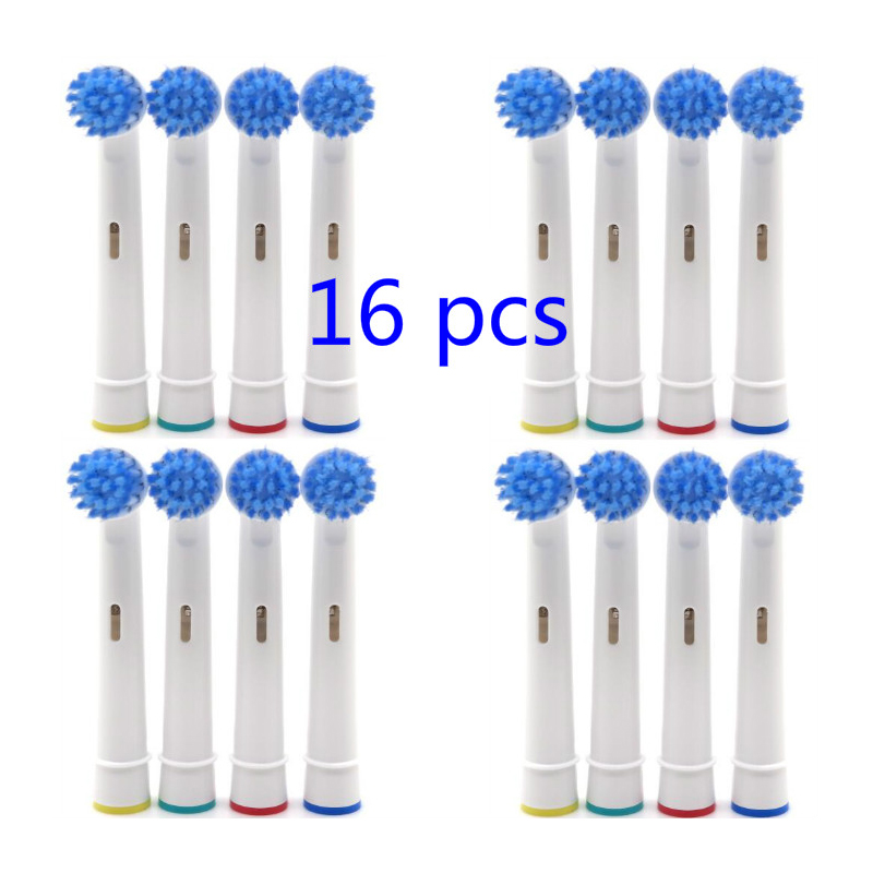 16 pcs 4 conjuntos de cerdas macias precisao limpa substituicao escova de dentes eletrica cabeca para