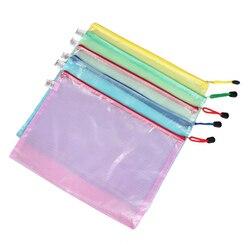 Affordable 345mm x 242mm office a4 file paper pocket holder bag assorted color 5 pcs.jpg 250x250