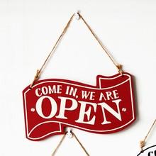 1 шт. знак на дверь прочный практический двойной сторонний декоративная деревянная дверь Декор подвесной знак для кафе магазин ресторан