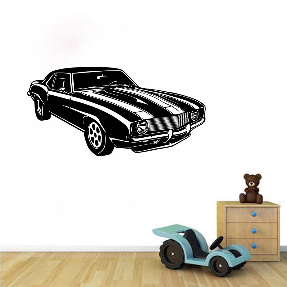 Racing Sports Car Wall Stickers Creative Home Decor Living Room Bedroom Wall Decals Waterproof Vinyl Removable Art Murals