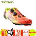 Tiebao sapatilha ciclismo carbon fiber 2019 fietsen schoenen Ultralight road fiets pedalen zelfsluitende schoenen fietsen sneakers