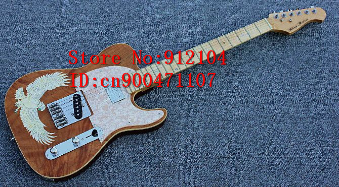 free shipping new Big John single wave TL electric guitar in natural with basswood body and maple fingerboard    1234-3-1 chiaro паула 4 411011706