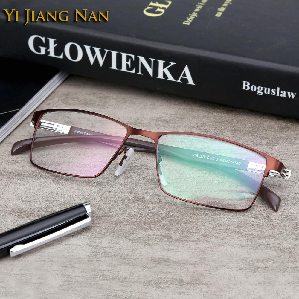 Yi Jiang Nan Brand Light marcos de lentes opticos hombre oculos masculino lunettes de vue homme progressive ophtalmique Glasses in Men 39 s Eyewear Frames from Apparel Accessories