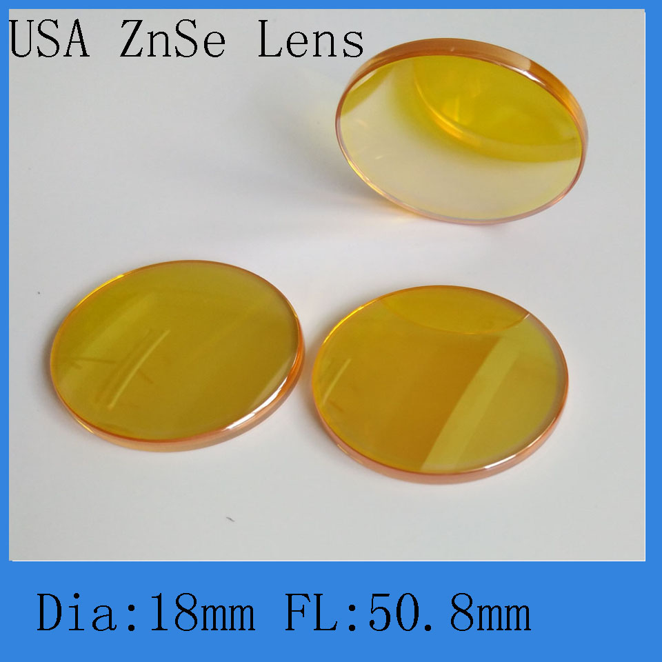 USA Znse Co2 Laser Focusing Lens 18-50.8mm Diameter And Focal  For Co2 Laser Engraving And Cutting Machine