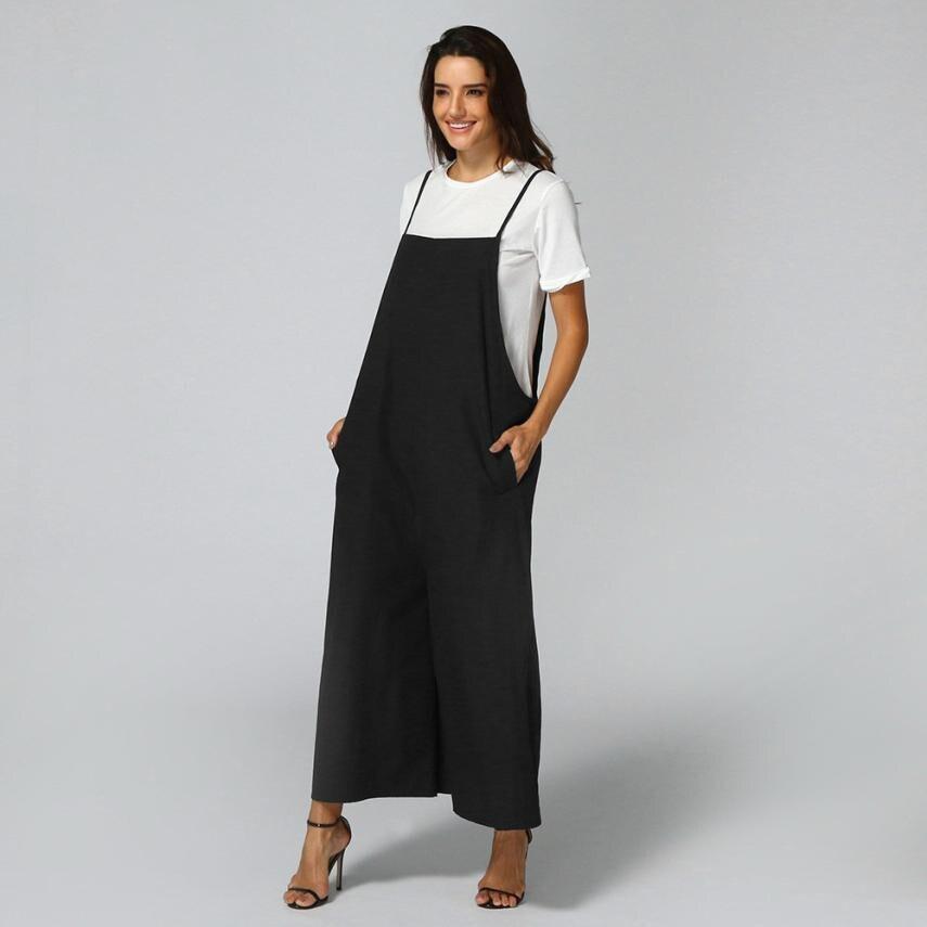 Jumpsuit bodysuits Women Sleeveless Overalls for women Jumpsuits Overalls Bib Pants Dungaree Trousers item 2JUN1
