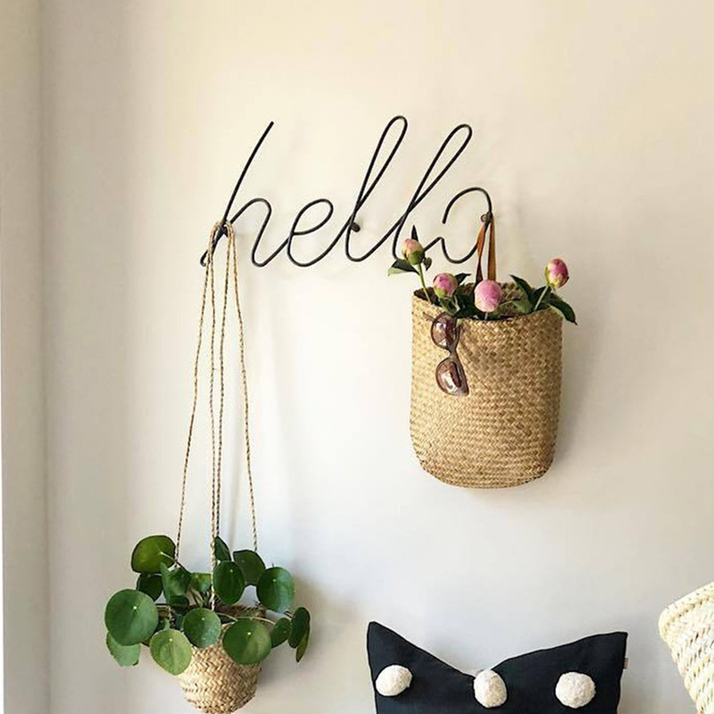 Wire Letters Home Decor Interior Wall Sign Gift Love Happy Kitchen Livingroom Wall Decorative Letters Numbers  GPD8820