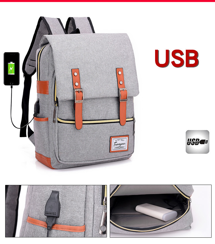 Topdudes.com - New Fashion Multi functional USB Charging 14 inches Laptop Backpacks