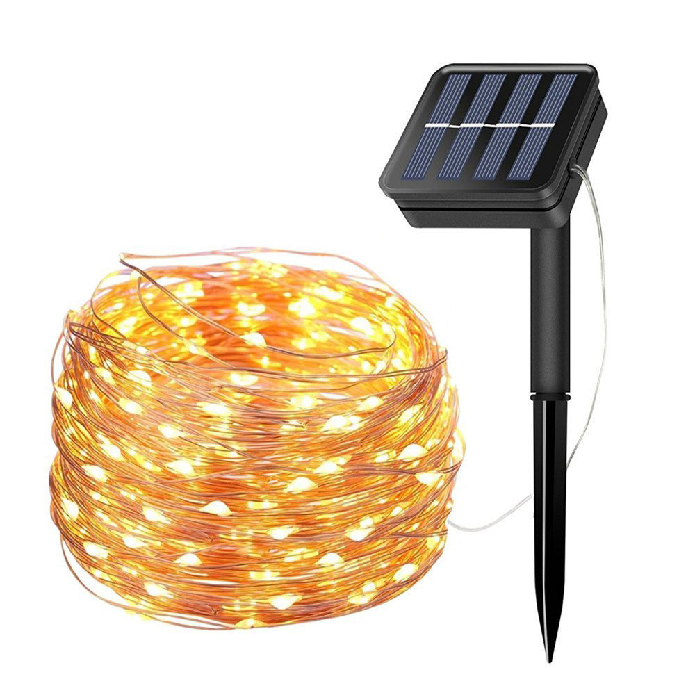 цена на Solar Copper Wire Lights 8 Modes 10M 20M Waterproof LED String Lights for Christmas Decoration Outdoor Garden Solar Fairy Lights